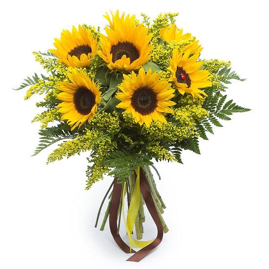 Sonnenblumenstrauß mit dekorativem Beiwerk | klein