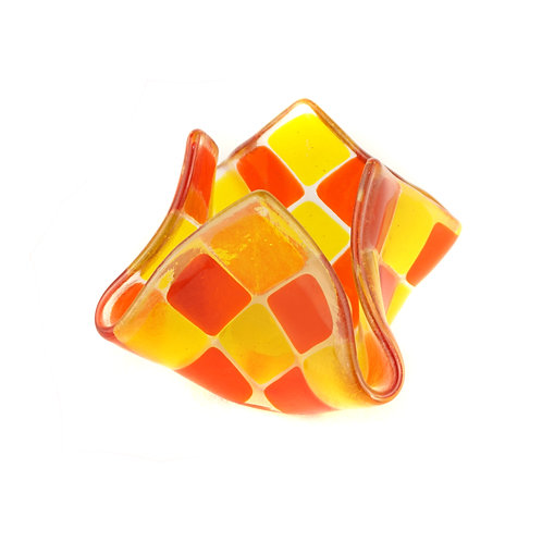 Teelicht klein | Orange / Goldgelb