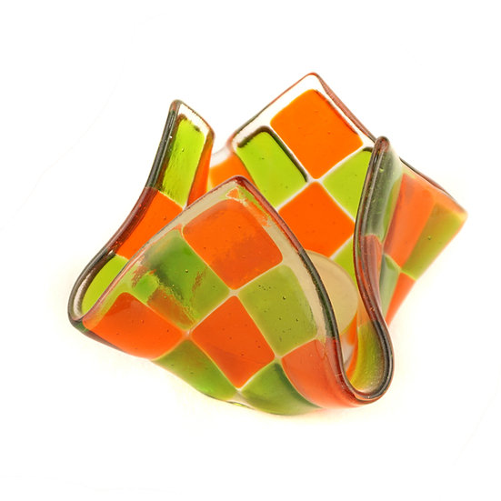 Tealight big | Light orange / Green