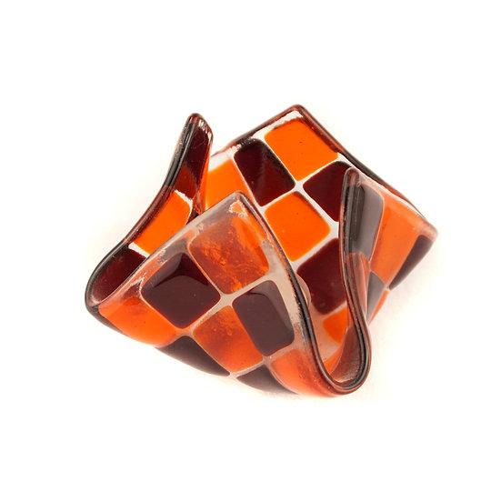Tealight small | Orange / Garnet red