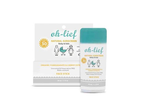 oh-lief Natural Face Stick SPF 30 - 30 g