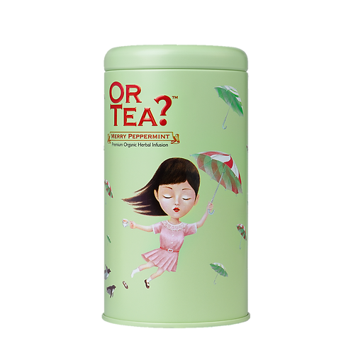 "Or Tea? Tin Canister ""Merry Peppermint"""