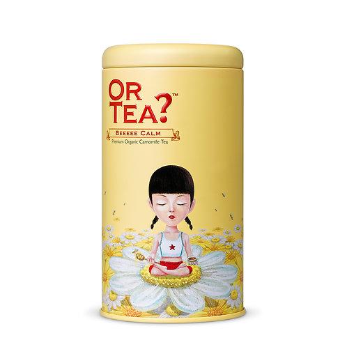 "Or Tea? Tin Canister ""Beeeee Calm"""