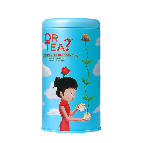 """Or Tea? Tin Canister """"Natural Tea Blossoms"""""""