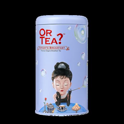 "Or Tea? Tin Canister ""Tiffany's Breakfast"""