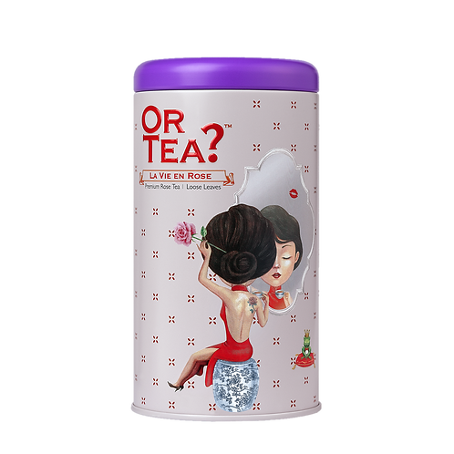 "Or Tea? Tin Canister ""La Vie en Rose"""