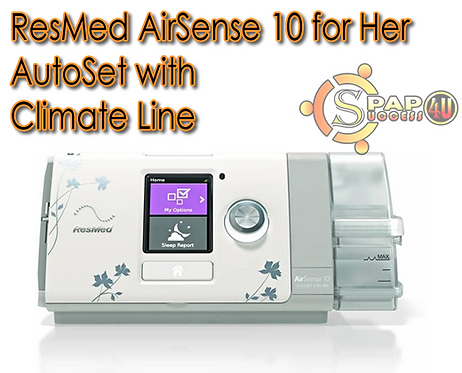 ResMed AirSense 10 for Her AutoSet w/Climate Line