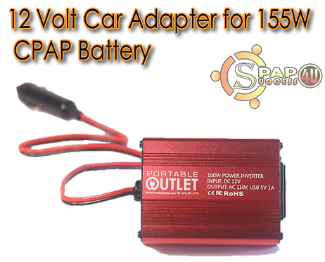 12 Volt Car Adapter for 155W CPAP Battery