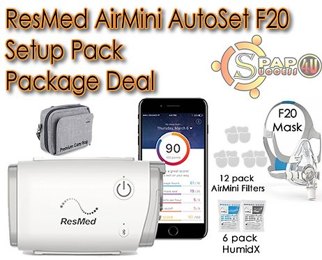 ResMed AirMini AutoSet F20 Setup Pack Package Deal