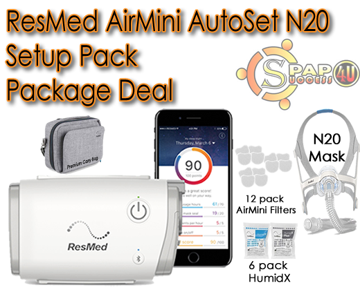 ResMed AirMini AutoSet N20 Setup Pack Package Deal