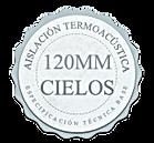 120mm. Aislación de Techumbre