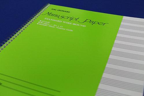Manuscript Book 96 Pages (8 1/2 x 11) 12-Staff