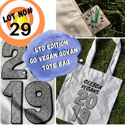 Lot 29 Ltd edition Glesga Vegans tote.pn