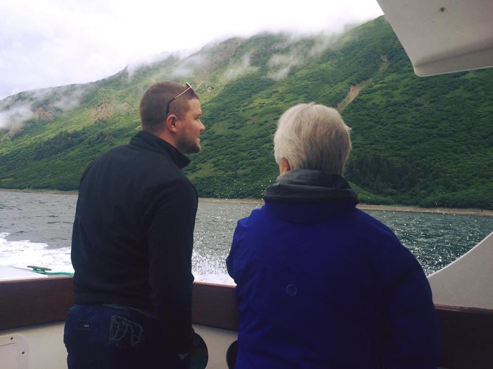 Dr. Bewley on a trip to Alaska