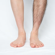 Legs hair removal for men, before & afte