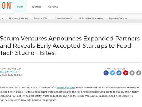 [PR Newswire] Scrum Ventures Announces Expanded Partners and Reveals Early Accepted Startups