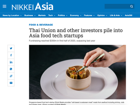 [Nikkei Asia] Thai Union and other investors pile into Asia food tech startups