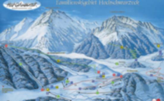 Hochschwarzeck Skikarte
