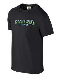 Rockfield colour logo Tee Black.fw - Cop