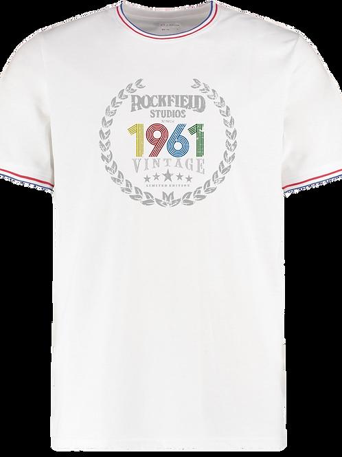 """Rockfield 1961"" Contrast Trim Teeshirt"