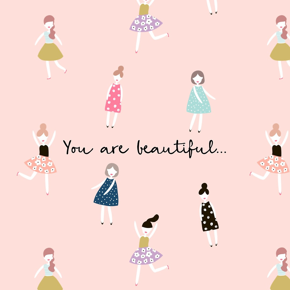 You are beautiful quote by horrendously feminist blog, body image quote