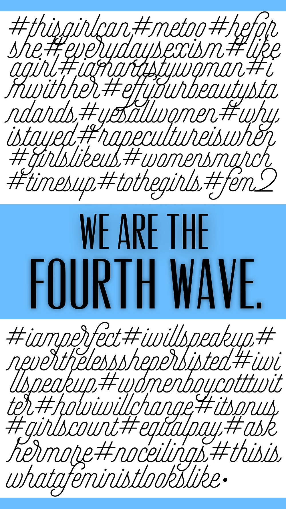 We are the fourth wave quote by horrendously feminist blog hashtags showing the feminist activism of our generation, digital activism