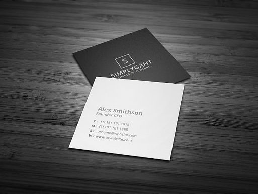 "Square Business Cards ""2.5 x 2.5"""