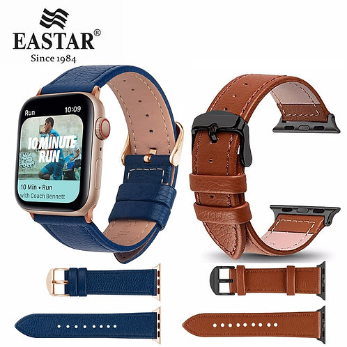 Eastar 3 Color Hot Sell Leather Watchband for Apple Watch Band Series 5 6 4 SE