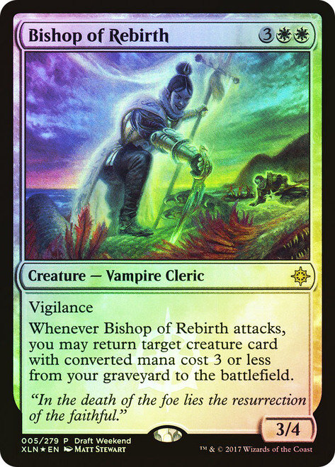 Bishop of Rebirth (Draft Weekend)(LJ) / Foil / Español