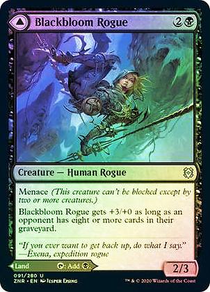Blackbloom Rogue // Blackbloom Bog (ZNR) / Foil