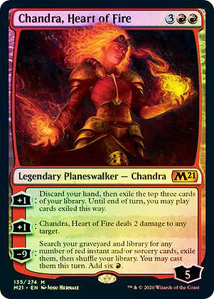 Chandra, Heart of Fire (M21) / Foil