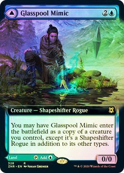 Glasspool Mimic // Glasspool Shore (ZNR) / Extended Art / Foil