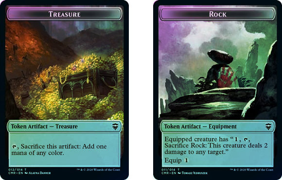 Token (Treasure // Rock) / Foil