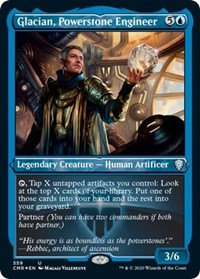 Glacian, Powerstone Engineer (Foil Etched)