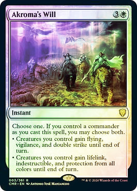 Akroma's Will (CMR) / Foil
