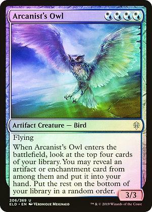 Arcanist's Owl (ELD) / Foil