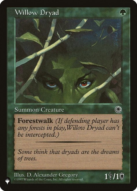 Willow Dryad (The List)