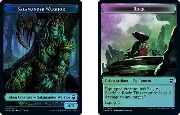 Token (Salamander Warrior // Rock) / Foil