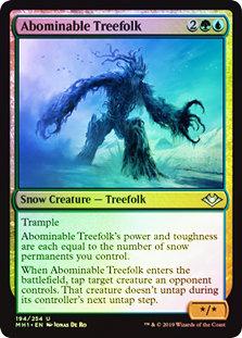 Abominable Treefolk / Foil