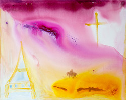 Jesus And Mary Magdalena Arriving In France 48x60 web resized