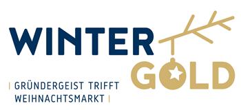 Weihnachtsmarkt-Winter-Gold