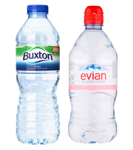 Buxton and Evian water brands