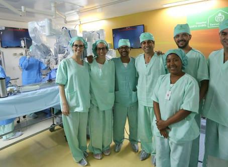 IUCR capacita equipe médica do Hospital Santa Izabel, na Bahia, em cirurgia robótica
