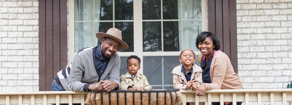 Carter Family Porch Portrait Session 1