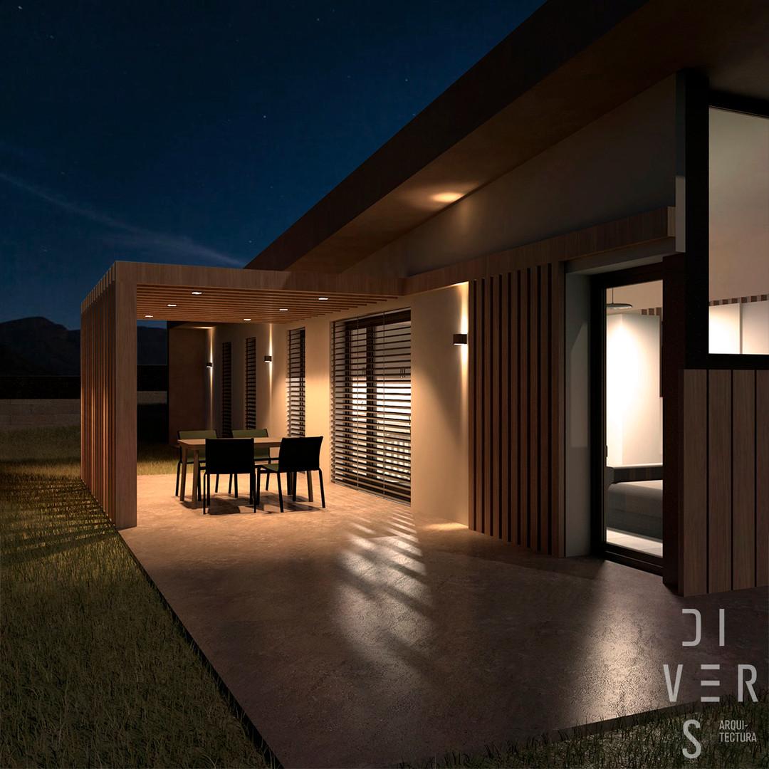 Vista nocturna terrassa