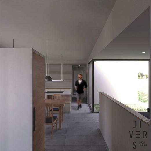 Vista interior, rebedor