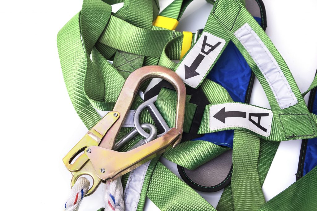 Closeup-fall-protection-harness-and-lanyard-for-work-at-heights-1024x683