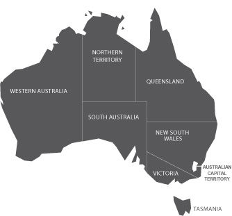 Ballisic Firarms Australian Map