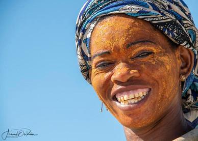 Visage de femme malagache.