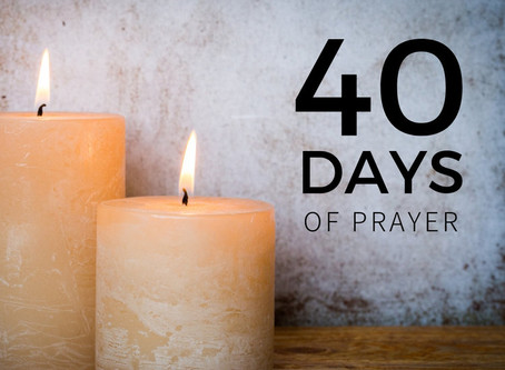 Finish 2019 with 40 days of prayer!  Day 1